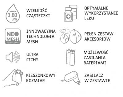 inhalator przenośny - cechy